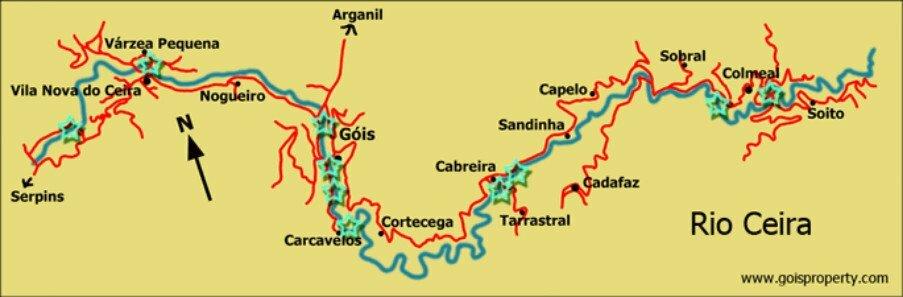 Rio Ceira map